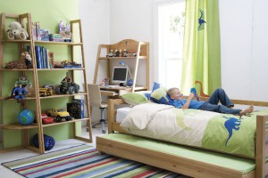 Зелёная комната для мальчика подростка