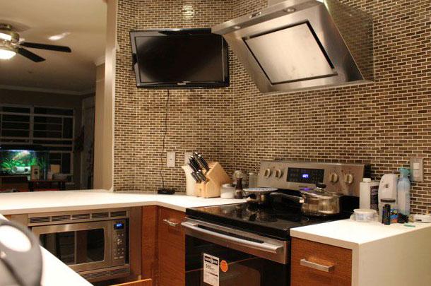 фото обои под кирпич на кухню