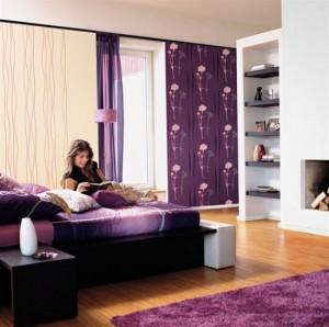 фиолетовые обои с цветами