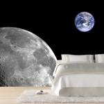 фотообои для спальни планеты