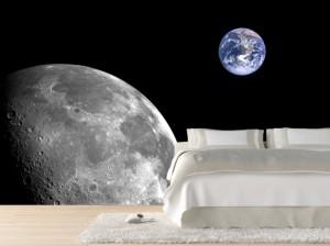 фотообои для спальни с планетами