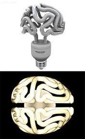 Энергосберегающая лампа в виде мозга