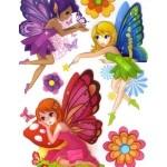 3D наклейки для детей, маленькие феи с крыльями