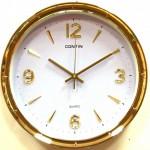 Настенные часы круглые с позолоченным корпусом