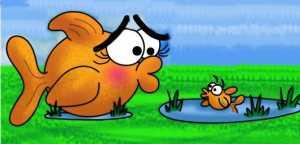 Большая и маленькая рыбка