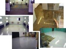 Примеры покрашенных бетонных полов