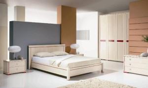 Белая мебель морковные обои