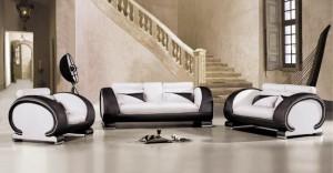 Белая мебель обои под штукатурку