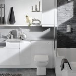 Белая ванная серые стены