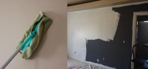 Мойка и грунтовка стены