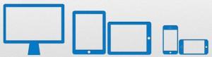 Адаптивный дизайн. Возможные положения устройств для отображения сайта
