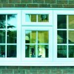 Трёхстворчатое окно ПВХ с форточкой вверху
