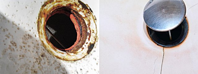 Коррозия и трещины эммалированной мойки