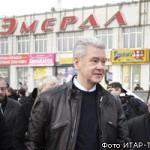 Сергей Собянин на рынке Эмерал