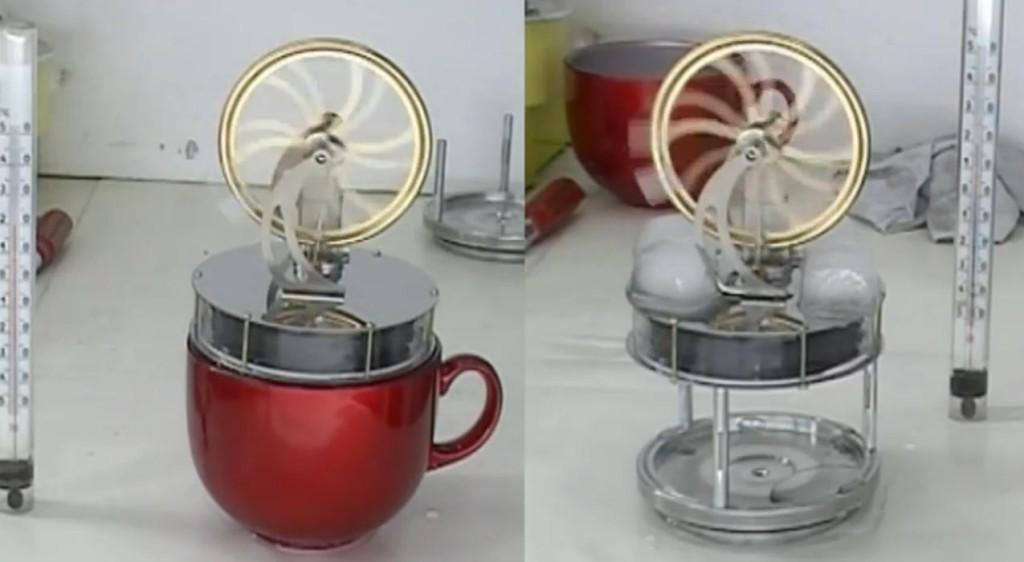 Тепловой парадокс в двигателях Стирлинга (фото из видеоролика Игоря Белецкого)