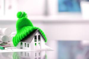 Макет дома в шапке