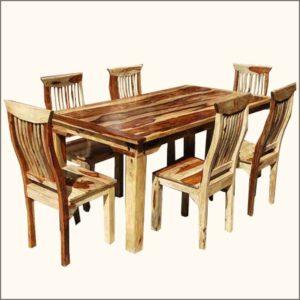 Стол и 6 стульев. Деревянная мебель из акации