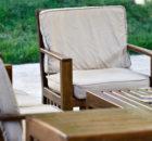 Набор уличной деревянной мебели